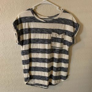 Striped T shirt with pocket